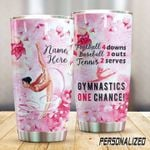 Personalized Gymnastics Once Chance Stainless Steel Tumbler Perfect Gifts For Gymnastics Tumbler Cups For Coffee/Tea, Great Customized Gifts For Birthday Christmas Thanksgiving