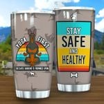 Yoga Doberman Stay Safe Stainless Steel Tumbler Perfect Gifts For Dog Lover Tumbler Cups For Coffee/Tea, Great Customized Gifts For Birthday Christmas Thanksgiving