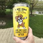 Boxer Dab A Woman Once Said I'm Getting A Boxer And She Lived Happily Ever After Stainless Steel Tumbler, Tumbler Cups For Coffee/Tea, Great Customized Gifts For Birthday Christmas Thanksgiving