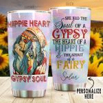 Personalized Hippie She Had The Soul Of A Gypsy Stainless Steel Tumbler Perfect Gifts For Hipppie Tumbler Cups For Coffee/Tea, Great Customized Gifts For Birthday Christmas Thanksgiving