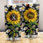 Personalized Diabetes Hope For A Cure Sunflower Stainless Steel Tumbler Perfect Gifts For Diabetes Tumbler Cups For Coffee/Tea, Great Customized Gifts For Birthday Christmas Thanksgiving