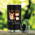 Corgi Dog Short On Legs Big On Love Stainless Steel Tumbler Perfect Gifts For Dog Lover Tumbler Cups For Coffee/Tea, Great Customized Gifts For Birthday Christmas Thanksgiving