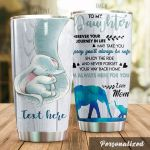 Personalized Family Elephant To My Daughter From Mom Wherever Your Journey In Life Stainless Steel Tumbler Perfect Gifts For Elephant Lover Tumbler Cups For Coffee/Tea, Great Customized Gifts For Birthday Christmas Thanksgiving