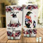 Just A Girl Who Love Penguins Stainless Steel Tumbler Perfect Gifts For Penguin Lover Tumbler Cups For Coffee/Tea, Great Customized Gifts For Birthday Christmas Thanksgiving