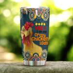 Chicken I Am The Crazy Chicken Lady Stainless Steel Tumbler Perfect Gifts For Chicken Lover Tumbler Cups For Coffee/Tea, Great Customized Gifts For Birthday Christmas Thanksgiving