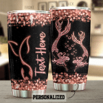 Personalized Mermaid Pink Sparkle Stainless Steel Tumbler Perfect Gifts For Mermaid Lover Tumbler Cups For Coffee/Tea, Great Customized Gifts For Birthday Christmas Thanksgiving