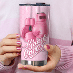 Breast Cancer Fighter Stainless Steel Tumbler Perfect Gifts For Breast Cancer Awareness Tumbler Cups For Coffee/Tea, Great Customized Gifts For Birthday Christmas Thanksgiving
