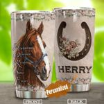 Personalized Horse Happiness Obsession Stainless Steel Tumbler Perfect Gifts For Dog Lover Tumbler Cups For Coffee/Tea, Great Customized Gifts For Birthday Christmas Thanksgiving