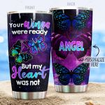 Personalized Butterfly Your Wings Were Ready Stainless Steel Tumbler Perfect Gifts For Butterfly Lover Tumbler Cups For Coffee/Tea, Great Customized Gifts For Birthday Christmas Thanksgiving