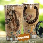 Personalized Horse Stainless Steel Tumbler Perfect Gifts For Horse Lover Tumbler Cups For Coffee/Tea, Great Customized Gifts For Birthday Christmas Thanksgiving