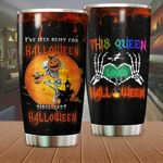 Halloween This Queen Loves Halloween Stainless Steel Tumbler Perfect Gifts For Halloween Tumbler Cups For Coffee/Tea, Great Customized Gifts For Birthday Christmas Thanksgiving