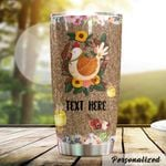 Personalized Farm Chicken Stainless Steel Tumbler Perfect Gifts For Chicken Lover Tumbler Cups For Coffee/Tea, Great Customized Gifts For Birthday Christmas Thanksgiving