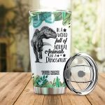 Personalized Be A Dinosaur Stainless Steel Tumbler Perfect Gifts For Dinosaur Lover Tumbler Cups For Coffee/Tea, Great Customized Gifts For Birthday Christmas Thanksgiving
