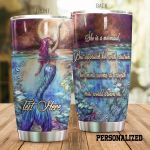 Personalized Mermaid Approach Her With Caution Stainless Steel Tumbler Perfect Gifts For Mermaid Lover Tumbler Cups For Coffee/Tea, Great Customized Gifts For Birthday Christmas Thanksgiving