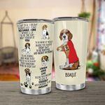 Beagle Dog Have A Great Day To Smile Stainless Steel Tumbler Perfect Gifts For Dog Lover Dog Mom Tumbler Cups For Coffee/Tea, Great Customized Gifts For Birthday Christmas Thanksgiving