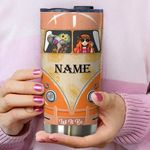 Personalized Hippie Let It Be Stainless Steel Tumbler Perfect Gifts For Hippie Lover Tumbler Cups For Coffee/Tea, Great Customized Gifts For Birthday Christmas Thanksgiving