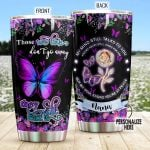 Personalized Butterfly Those We Love Don't Go Away Stainless Steel Tumbler Perfect Gifts For Butterfly Lover Tumbler Cups For Coffee/Tea, Great Customized Gifts For Birthday Christmas Thanksgiving