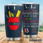 Personalized Teacher All Are Welcome Stainless Steel Tumbler Perfect Gifts For Teacher Tumbler Cups For Coffee/Tea, Great Customized Gifts For Birthday Christmas Thanksgiving
