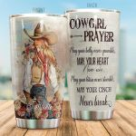 Personalized Cowgirl Prayer May Your Belly Never Grumble Stainless Steel Tumbler Perfect Gifts For Cowgirl Lover Tumbler Cups For Coffee/Tea, Great Customized Gifts For Birthday Christmas Thanksgiving