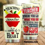 Personalized Once A Teacher Always A Teacher Stainless Steel Tumbler Perfect Gifts For Teacher Tumbler Cups For Coffee/Tea, Great Customized Gifts For Birthday Christmas Thanksgiving
