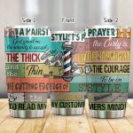 Hairstylist God Grant Me The Serenity Stainless Steel Tumbler Perfect Gifts For Hairstylist Tumbler Cups For Coffee/Tea, Great Customized Gifts For Birthday Christmas Thanksgiving