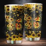 Butterfly Faith Stainless Steel Tumbler Perfect Gifts For Butterfly Lover Tumbler Cups For Coffee/Tea, Great Customized Gifts For Birthday Christmas Thanksgiving
