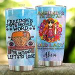 Personalized Hippie Was Your First Mistake Stainless Steel Tumbler Perfect Gifts For Hipppie Tumbler Cups For Coffee/Tea, Great Customized Gifts For Birthday Christmas Thanksgiving