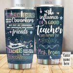 Personalized Teachers Need Good Coworker Stainless Steel Tumbler Perfect Gifts For Teacher Tumbler Cups For Coffee/Tea, Great Customized Gifts For Birthday Christmas Thanksgiving