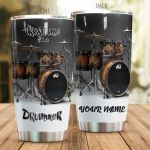 Personalized Trust Me I'm A Drummer Stainless Steel Tumbler Perfect Gifts For Drummer Lover Tumbler Cups For Coffee/Tea, Great Customized Gifts For Birthday Christmas Thanksgiving