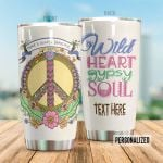 Personalized Hippie Wild Heart Gypsy Soul Steel Tumbler Perfect Gifts For Guitar Lover Tumbler Cups For Coffee/Tea, Great Customized Gifts For Birthday Christmas Thanksgiving