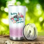 Camping Happy Camper Stainless Steel Tumbler Perfect Gifts For Camping Lover Tumbler Cups For Coffee/Tea, Great Customized Gifts For Birthday Christmas Thanksgiving