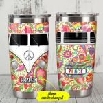 Personalized Aesthetic Hippie Van Stainless Steel Tumbler Perfect Gifts For Hippie Lover Tumbler Cups For Coffee/Tea, Great Customized Gifts For Birthday Christmas Thanksgiving