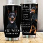 Doberman Black No Sugar Stainless Steel Tumbler, Tumbler Cups For Coffee/Tea, Great Customized Gifts For Birthday Christmas Thanksgiving