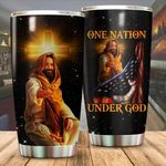 One Nation Under God Stainless Steel Tumbler, Tumbler Cups For Coffee/Tea, Great Customized Gifts For Birthday Christmas Thanksgiving
