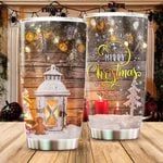 We Wish You A Very Merry Christmas Stainless Steel Tumbler, Tumbler Cups For Coffee/Tea, Great Customized Gifts For Birthday Christmas Thanksgiving