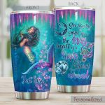 Personalized The Sprit Of A Mermaid Stainless Steel Tumbler Perfect Gifts For Mermaid Lover Tumbler Cups For Coffee/Tea, Great Customized Gifts For Birthday Christmas Thanksgiving
