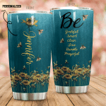 Personalized Bee Be Grateful Smart Clean True Stainless Steel Tumbler Perfect Gifts For Bee Lover Tumbler Cups For Coffee/Tea, Great Customized Gifts For Birthday Christmas Thanksgiving