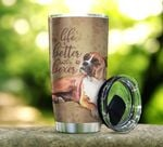 Life Is Better With Boxer Stainless Steel Tumbler Perfect Gifts For Dog Lover Tumbler Cups For Coffee/Tea, Great Customized Gifts For Birthday Christmas Thanksgiving