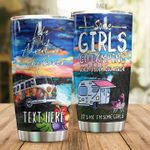 Personalized Some Girls Go Camping And Drink Stainless Steel Tumbler Perfect Gifts For Camping Lover Tumbler Cups For Coffee/Tea, Great Customized Gifts For Birthday Christmas Thanksgiving