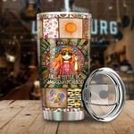 Hippie I'm Mostly Peace Love And Light Stainless Steel Tumbler Perfect Gifts For Hippie Lover Tumbler Cups For Coffee/Tea, Great Customized Gifts For Birthday Christmas Thanksgiving