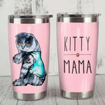 Scottish Fold Cat Kitty Mama Stainless Steel Tumbler, Tumbler Cups For Coffee/Tea, Great Customized Gifts For Birthday Christmas Thanksgiving