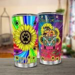 Hippie Dog Print On A Dark Desert Of High Way Hippie Van Sunflower Stainless Steel Tumbler Perfect Gifts For Hippie Tumbler Cups For Coffee/Tea, Great Customized Gifts For Birthday Christmas Thanksgiving
