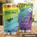 Personalized Hairstylist I'm Just A Girl Who Loves Stainless Steel Tumbler Perfect Gifts For Hairstylist Tumbler Cups For Coffee/Tea, Great Customized Gifts For Birthday Christmas Thanksgiving