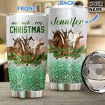 Personalized Goat Christmas Stainless Steel Tumbler Perfect Gifts For Goat Lover Tumbler Cups For Coffee/Tea, Great Customized Gifts For Birthday Christmas Thanksgiving