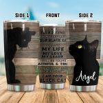 Personalized Black Cat You Are My Life My Love My Leader Stainless Steel Tumbler Perfect Gifts For Black Cat Lover Tumbler Cups For Coffee/Tea, Great Customized Gifts For Birthday Christmas Thanksgiving