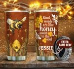 Personalized Bee Sweet To The Soul Honey Bee Hive Stainless Steel Tumbler Perfect Gifts For Bee Lover Tumbler Cups For Coffee/Tea, Great Customized Gifts For Birthday Christmas Thanksgiving