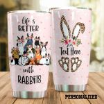 Personalized Life Is Better With Rabbits Stainless Steel Tumbler Perfect Gifts For Rabbit Lover Tumbler Cups For Coffee/Tea, Great Customized Gifts For Birthday Christmas Thanksgiving