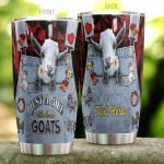 Personlized Just A Girl Who Loves Goats Stainless Steel Tumbler Perfect Gifts For Goat Lover Tumbler Cups For Coffee/Tea, Great Customized Gifts For Birthday Christmas Thanksgiving