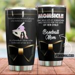 Personalized Baseball Mom Who Sits At Ballpark Stainless Steel Tumbler Perfect Gifts For Baseball Lover Tumbler Cups For Coffee/Tea, Great Customized Gifts For Birthday Christmas Thanksgiving Mother's Day