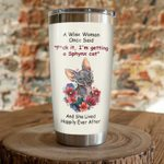 Sphynx Cat With Colorful Flowers I'm Getting Sphynx Cat Stainless Steel Tumbler Perfect Gifts For Sphynx Cat Lover Tumbler Cups For Coffee/Tea, Great Customized Gifts For Birthday Christmas Thanksgiving
